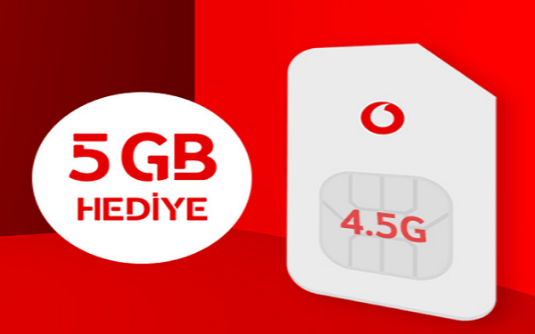 Vodafone Bedava 5 GB İnternet